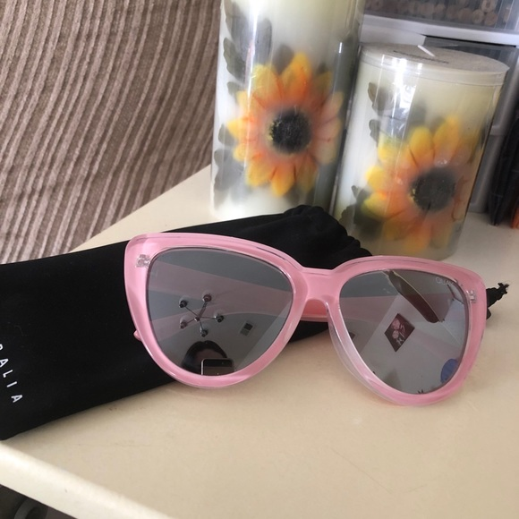 QUAY My Girl Pink Sunglasses